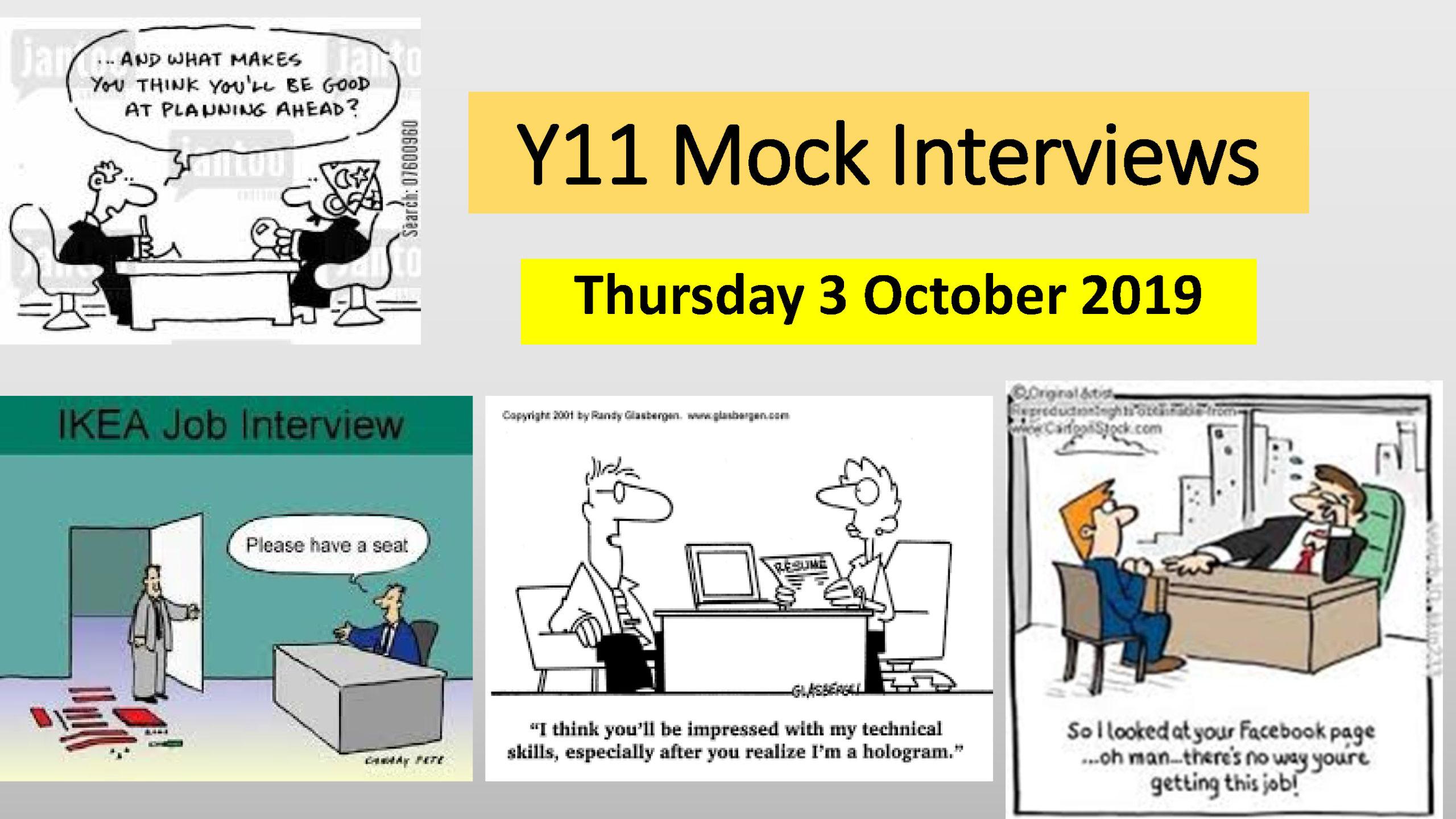Year 11 Mock Interviews Powerpoint 2019
