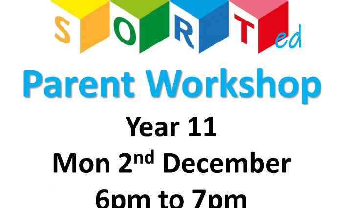 SORT Flyer Parent Workshop Y11