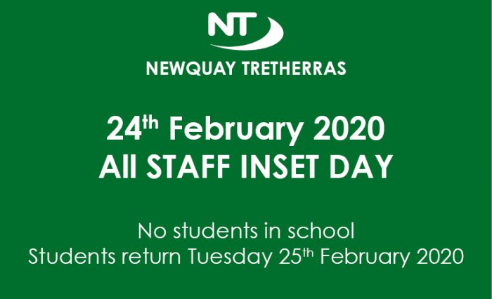 All STAFF INSET DAY