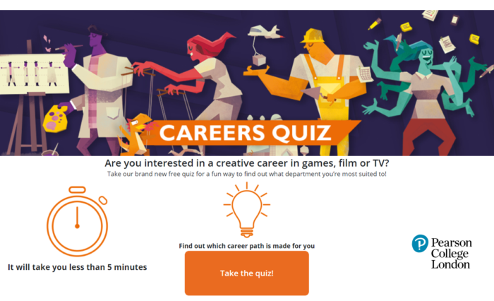 Creative Pearson Careers Quiz